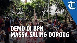 Demo di Kantor BPN Kota Bekasi, Pengunjuk Rasa Saling Dorong dengan Petugas