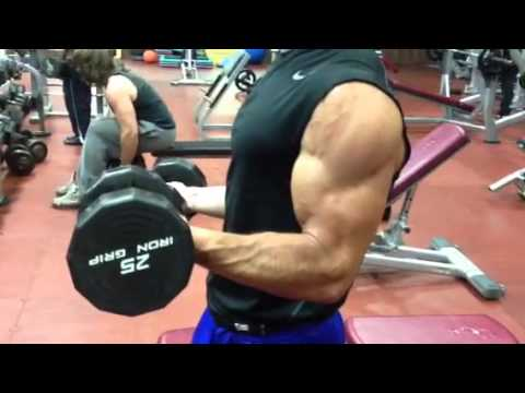 Dumbbell Biceps Curl with Static Hold