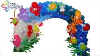 Decoracion con Globos Arcos y Tuneles elaborados en globos
