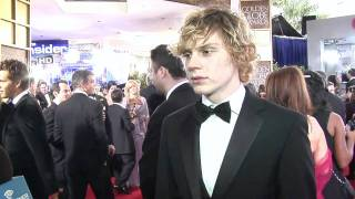 Interview Evan Peters - Golden Globes 2012