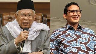 Ma'ruf Amin Siap Hadapi Sandiaga di Debat Putaran Ketiga