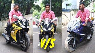 Yamaha R15-V3 Sports Bike 🏍️ (India VS indonesia) Difference Between Two Bike.