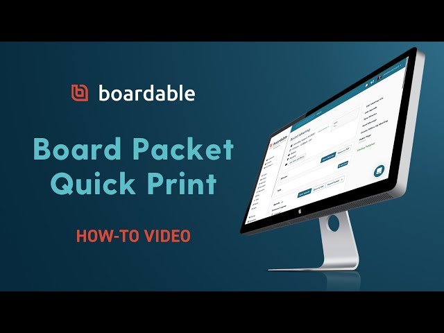 Board Packet Quick Print