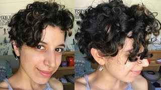 Short Curly Hair Routine | Long Pixie Cut