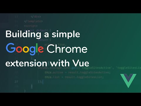 Building a simple Google Chrome extension with Vue