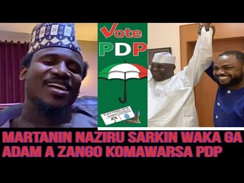 Download Martanin Naziru Sarkin Waka Ga Adam A Zango Kan Komawarsa PDP Atiku HD Mp4 3GP Video and MP3