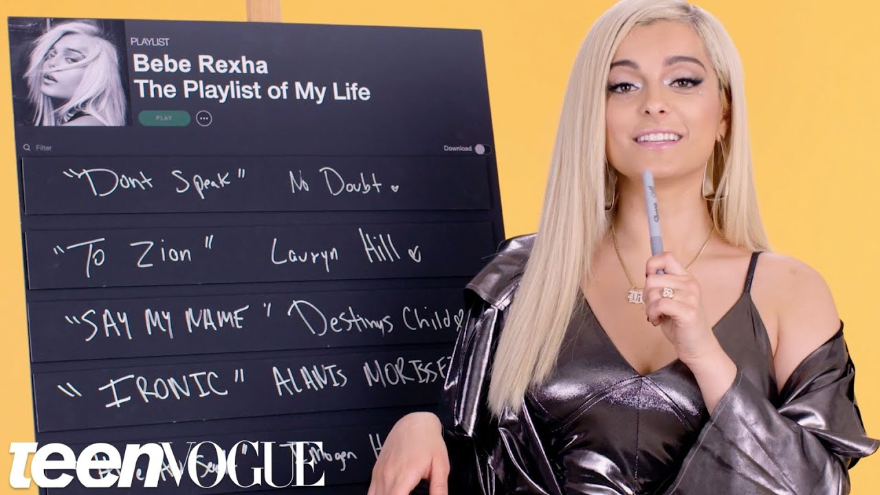 Bebe Rexha Creates the Playlist to Her Life | Teen Vogue - YouTube
