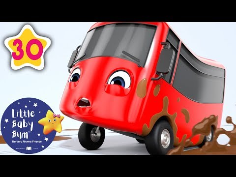 My Little Red Bus - Stuck In The Mud | + Nursery Rhymes & Kids Songs | Baby Songs | Little Baby Bum