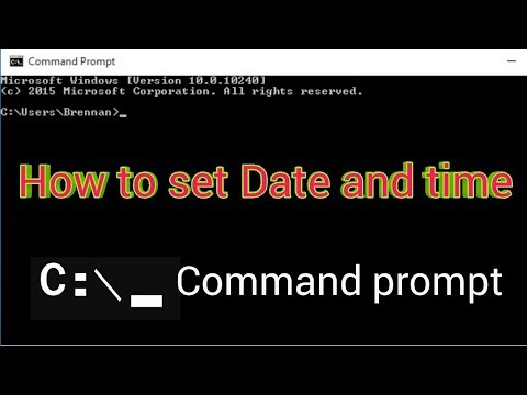 How to set Date and time with command prompt  Digital expo