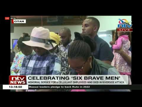 Memorial service for six Cellulant employees who died in the Riverside attack