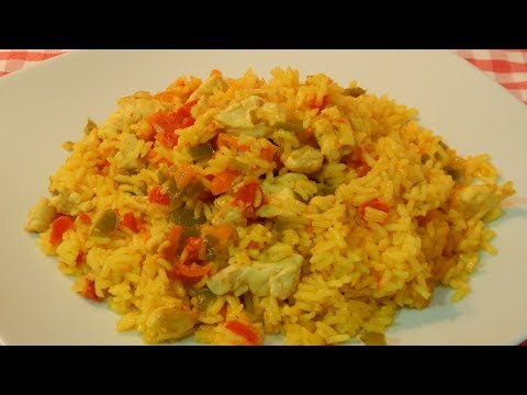 Receta super fácil de arroz con pollo y verduras
