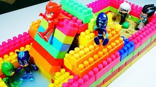 PJ Masks Build Slider Swimming Pool Blocks Toys For Children L Pj Masks Toy