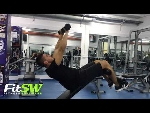 Dumbbell Push Sit-up: Abs, Core Exercise Demo How-to