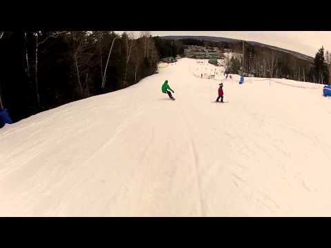 Adam Steeves first day on a alpine snowboard
