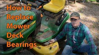 Replacing Mower Deck Bearings on a John Deer or other mower
