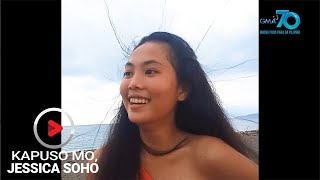 Aired (July 26, 2020): Habang nagjo-jogging sa kahabaan ng Lagonoy Gulf sa Camarines Sur, ang magbabarkadang Stephanie, Angel at Kamille... biglang nagtayuan! Paano kaya ito nangyari?  'Kapuso Mo, Jessica Soho' is GMA Network's highest-rating magazine show. Hosted by the country's most awarded broadcast journalist Jessica Soho, it features stories on food, urban legends, trends, and pop culture. 'KMJS' airs every Sunday, 8:25 PM on GMA Network.  Subscribe to youtube.com/gmapublicaffairs for our full episodes. #KMJS15  Watch the latest episodes of your favorite GMA Public Affairs shows #WithMe. Stay #AtHome and subscribe to GMA Public Affairs' official YouTube channel and click the bell button to catch the latest videos.  GMA Network promotes healthy debate and conversation online.  Any abusive language that does not facilitate productive discourse will be blocked from this post.      GMA Network upholds ethical standards of fairness, objectivity, accuracy, transparency, balance, and independence.   Walang Kinikilingan, Walang Pinoprotektahan, Serbisyong totoo lamang.   Subscribe to the GMA Public Affairs channel: https://www.youtube.com/user/gmapublicaffairs  Visit the GMA News and Public Affairs Portal: http://www.gmanews.tv  Connect with us on: Facebook: http://www.facebook.com/gmapublicaffairs/ Twitter: http://www.twitter.com/gma_pa
