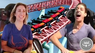 People Afraid Of Roller-Coasters Ride One For The First Time (360° Video)