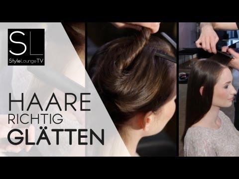 How to: Haare richtig glätten mit Glätteisen