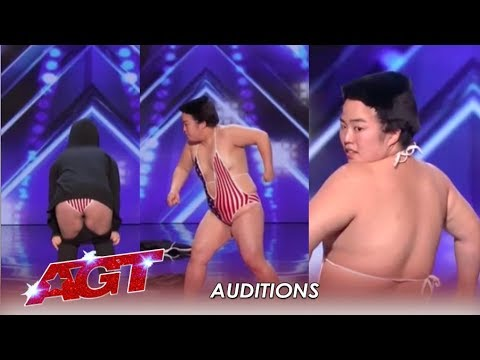 Japanese Dancer STRIPS To Impress Julianne Hough! Will It Be Enough? | America's Got Talent 2019 (видео)