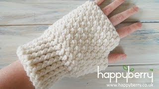 (Crochet) How To - Crochet Fingerless Mitten Gloves
