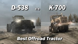 Spintires Mudrunner Best Offroad Tractor | D-538 vs K-700
