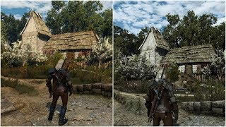 Witcher 3 vanilla vs extreme modded  Ultra graphic Poppy Reshade Phoenix lighting 11