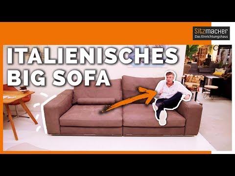 ITALIENISCHES BIG SOFA mit DICKEM LEDER | Sitzmacher - Das Einrichtungshaus