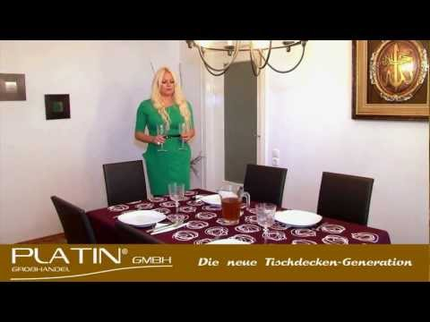 Platin Lotus Tischdecken / Gartentischdecken