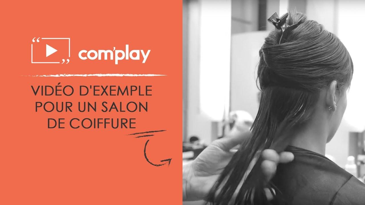 Image YouTube Affichage dynamique : exemple de diffusion pour un salon de coiffure