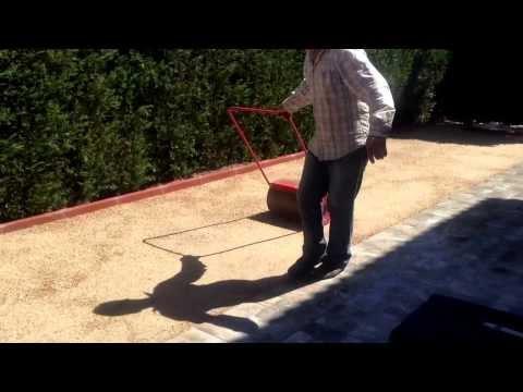 Compactación del terreno para instalar césped artificial