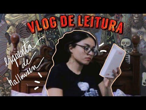 vlog de leitura // maratona literária esquenta de halloween