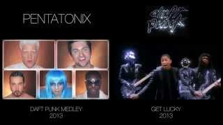Daft Punk Medley - Pentatonix (side by side)
