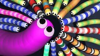 Slither.io  - Мультяшная игра про Червяка! #2. Канал Family BOX наш НОВЫЙ РЕКОРД в СЛИЗЕРИО