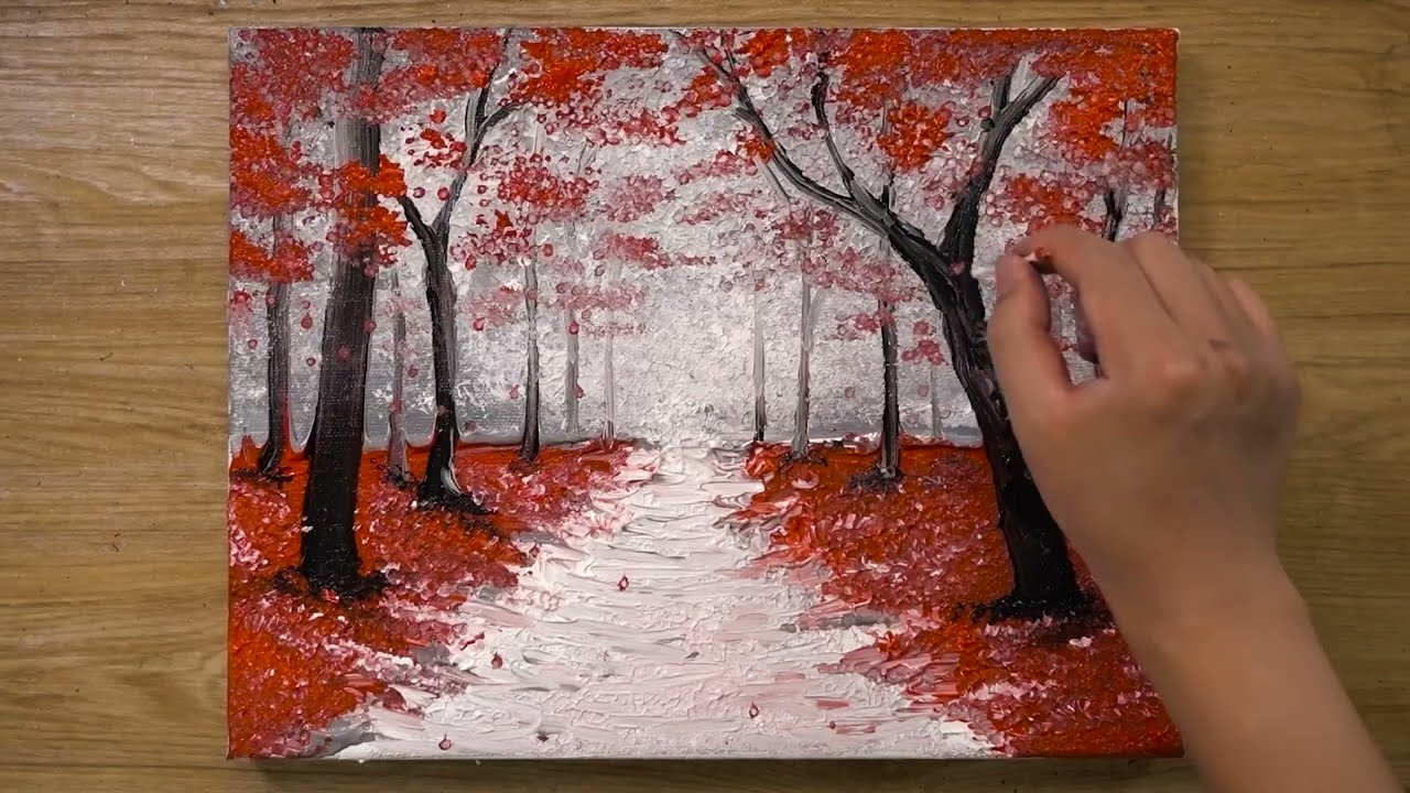 walking in the rain acrylic painting tutorial by jay lee painting