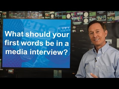 Media Relations Tips: What should your first words be in a media ...