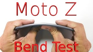 Worlds THINNEST Smartphone BEND TEST - Motorola Moto Z