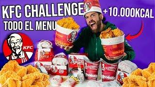 ME COMO TODO EL MENU DE KFC +4KG DE POLLO FRITO (+10.000 KCAL)