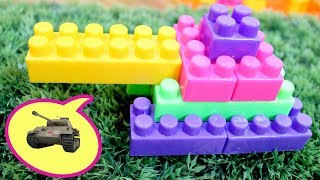 Building Blocks Tank - -  Video for Kids - Kids Play With Toy