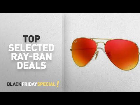Top Black Friday Ray-Ban: Ray-Ban AVIATOR LARGE METAL - MATTE GOLD Frame CRYSTAL BROWN MIRROR ORANGE