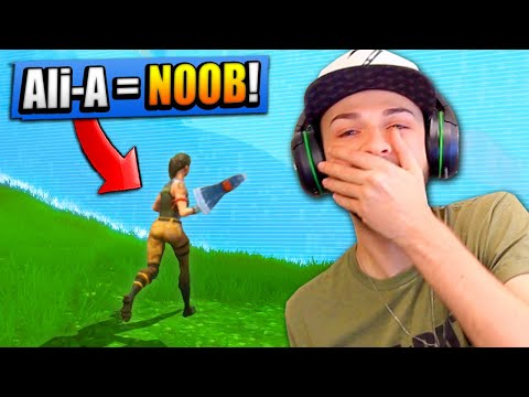 Ali-A REACTS to his FIRST EVER Fortnite game! (FUNNY)
