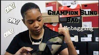 Champion Camo Sling Bag Unbagging