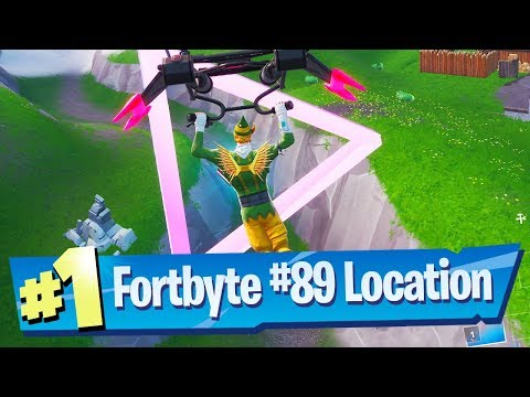 Fortnite Fortbyte #89 Location - Accessible flying Scarlet Strike Glider rings east of Snobby Shores