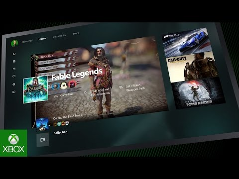 Nouvelle interface Xbox One