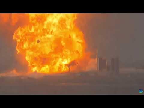 Прототип міжпланетного корабля Starship компанії SpaceX вибухнув під час випробування двигуна