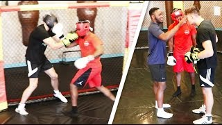 KSI ALMOST KNOCKED ME OUT (UNSEEN SPARRING FOOTAGE)