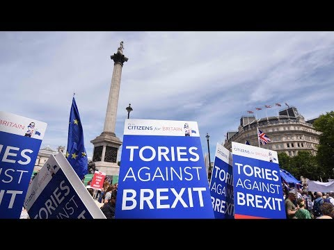Thousands march in London calling for second referendum