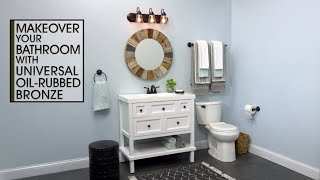 Bathroom Fixture Makeover With Universal Oil Rubbed Bronze Spray Paint