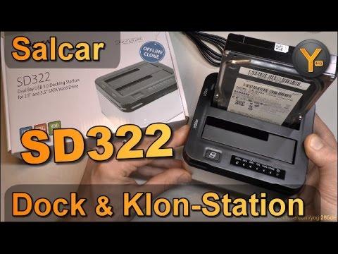 """Salcar SD322 / USB3.0 S-ATA Festplatten Dock & Klon-Station für 3,5"""" und 2,5"""" HDD"""