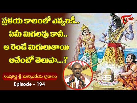 Markandeya Puranam #194 | ప్రళయ కాలంలో ఎవ్వరికీ ఏమీ మ�
