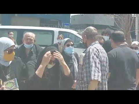 انهيار أسرة مكرم محمد أحمد فور وصول جثمانه المسجد